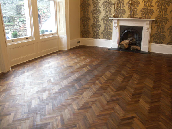Teak Herringbone Floor