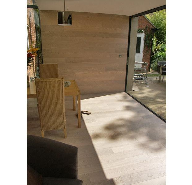White Lacquered Oak Planks