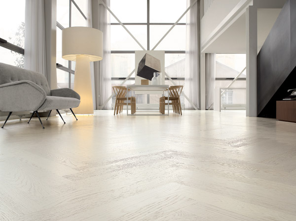White Wood Flooring – Herringbone or Plank