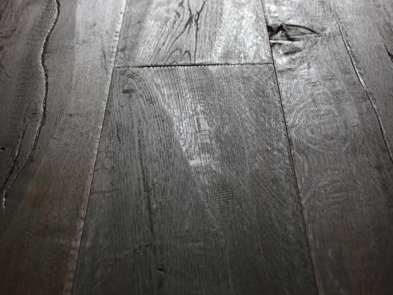 Distressed Black Oak Planks