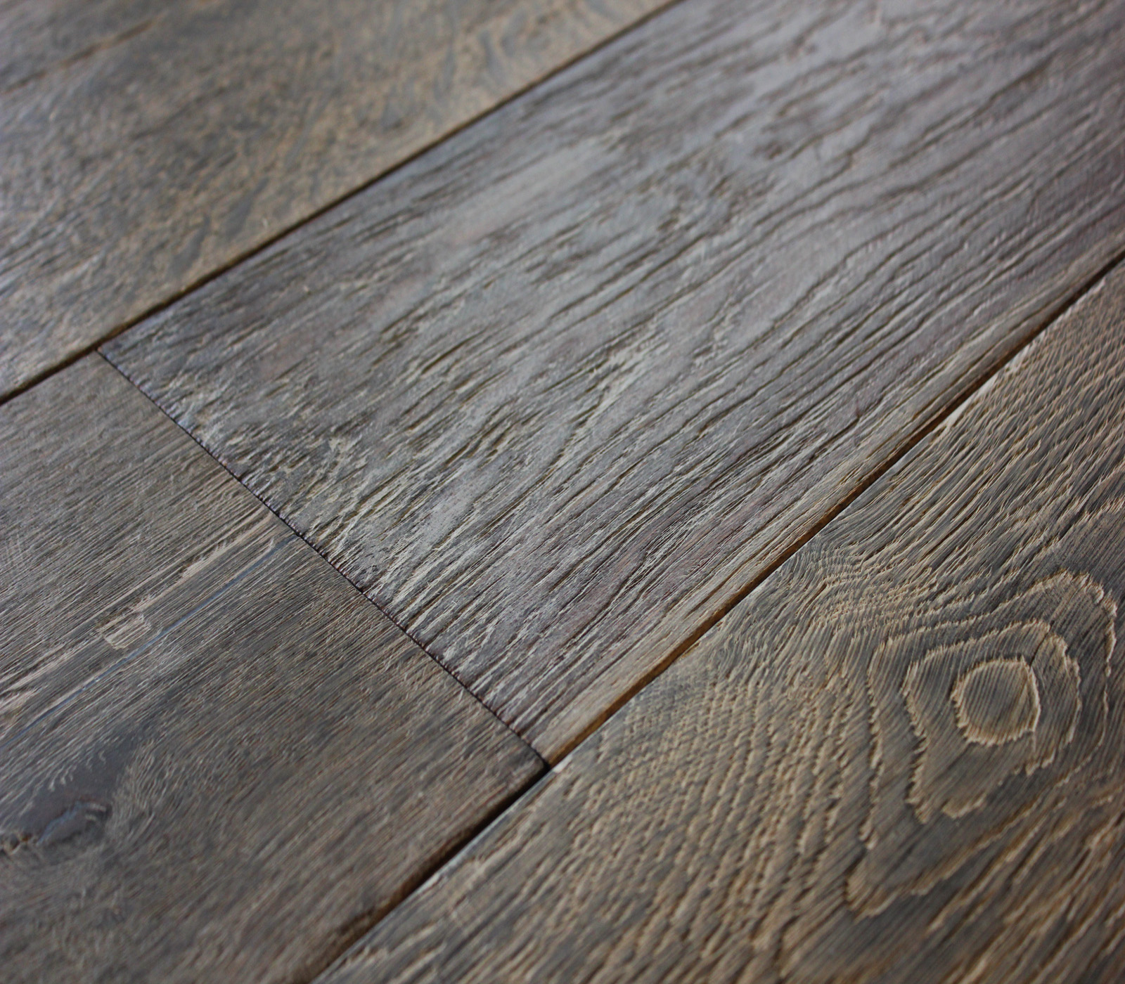 Distressed Waxed And Oiled Grey Oak Hicraft