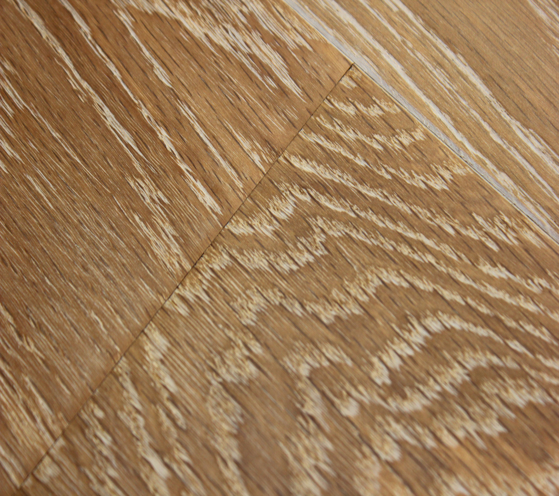 Brushed and Waxed Oak