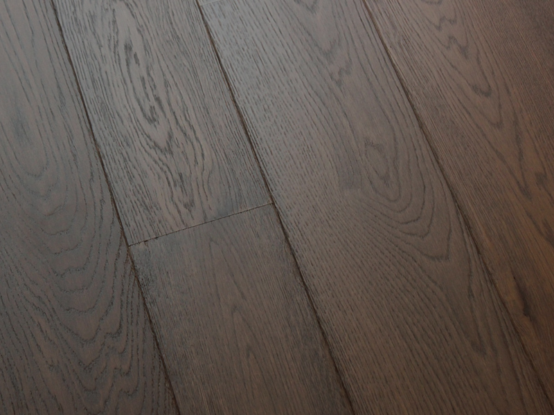 Dark Grey Lacquered and Brushed Planks