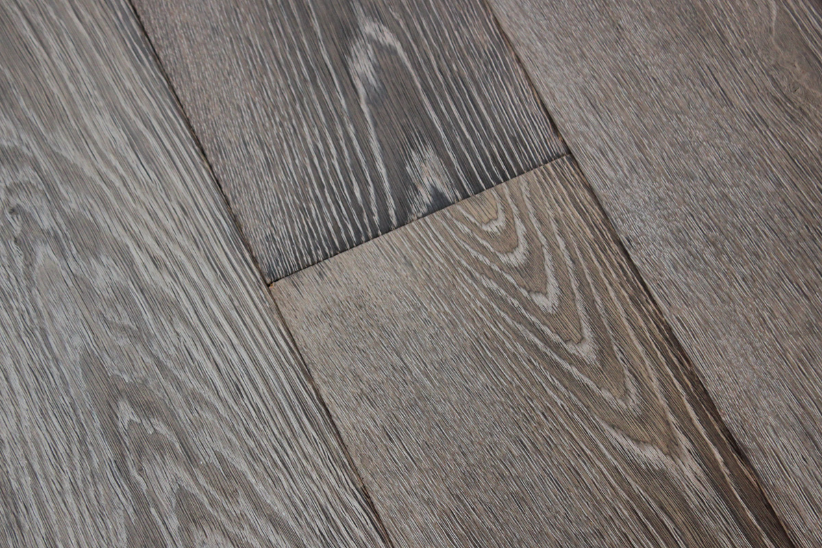 Brushed Mid Grey Oak Boards Hicraft Wooden Flooring Ltd