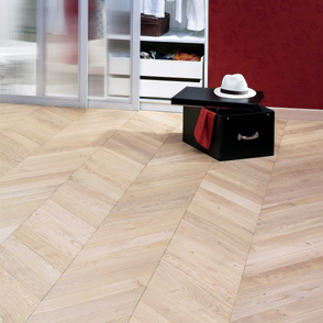 Pale Oak Engineered Chevron Blocks