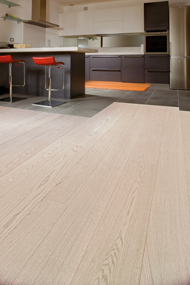 Textured Bleached White Oak Flooring Hicraft