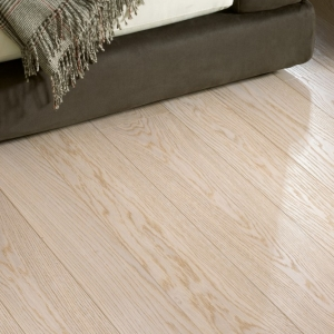 Textured Bleached White Oak Flooring
