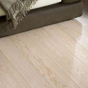 Textured Bleached White Oak Flooring