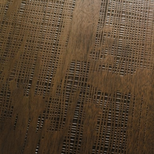 Weave Imprinted Walnut Planks