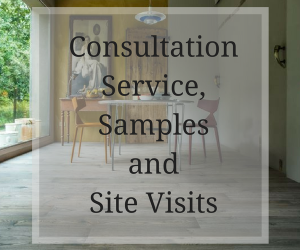 We offer a consultation service, samples and site visits to ensure that we find the floor which suits you and your project best.