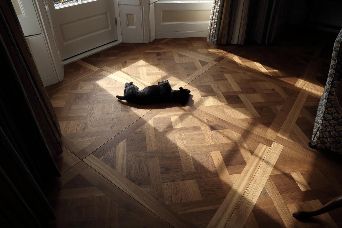 Solid Oak Parquet Fumed Oiled Versailles Panel