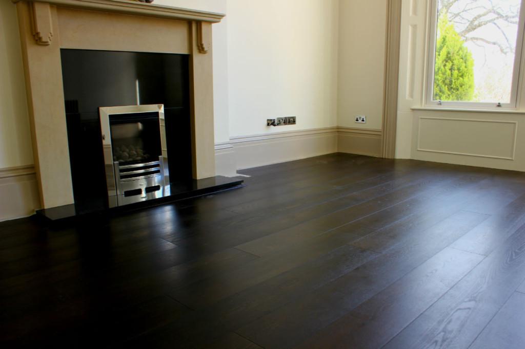 Black stained oak, black oak flooring