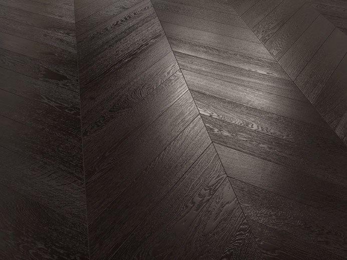Dark Wenge Effect Oak Chevron Flooring