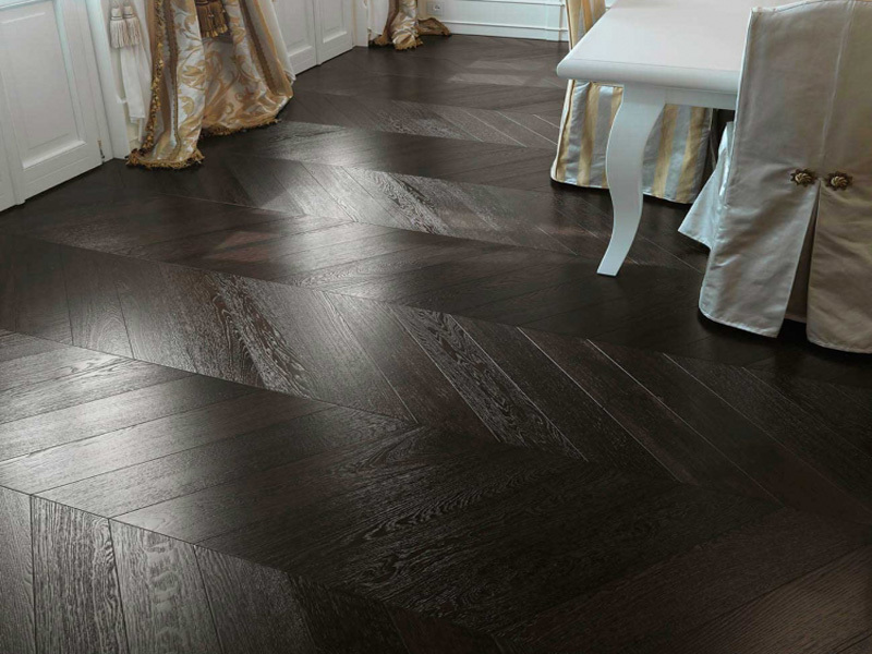 Wenge Chevron A Beautiful Wenge Effect Coloured Oak Floor