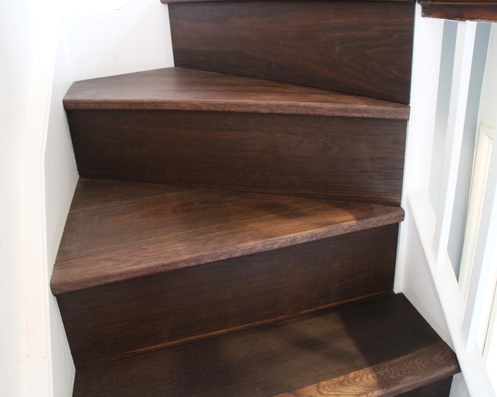 Richly Fumed Oiled Oak Clad Stairs