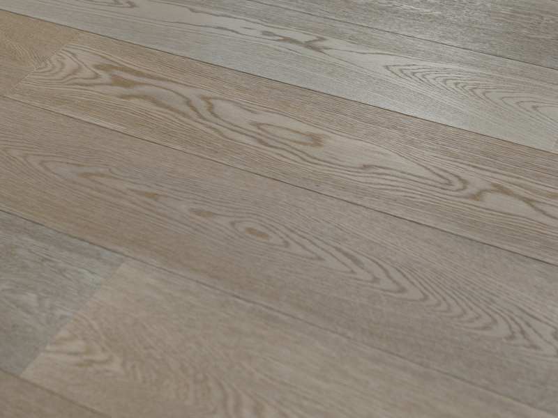 Limed Oak Flooring made in Italy using traditional techniques