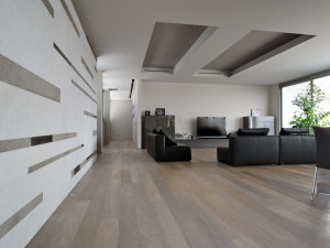 limed and whitewashed pale oak flooring