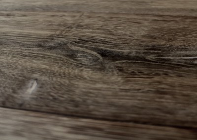 Smoked, hand smoothed grey oak