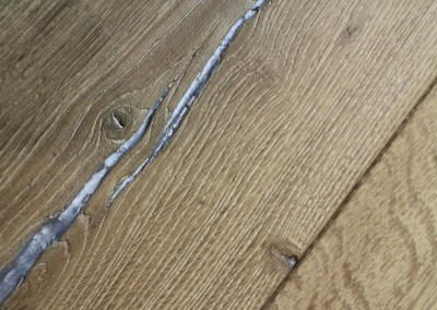 Sandblasted, Split Engineered Oak