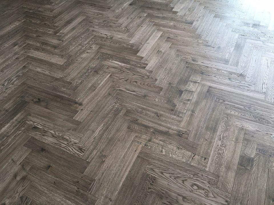 Engineered Grey Listone Giordano Italian Herringbone Floor