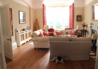 Warm Honey-toned Engineered Flooring