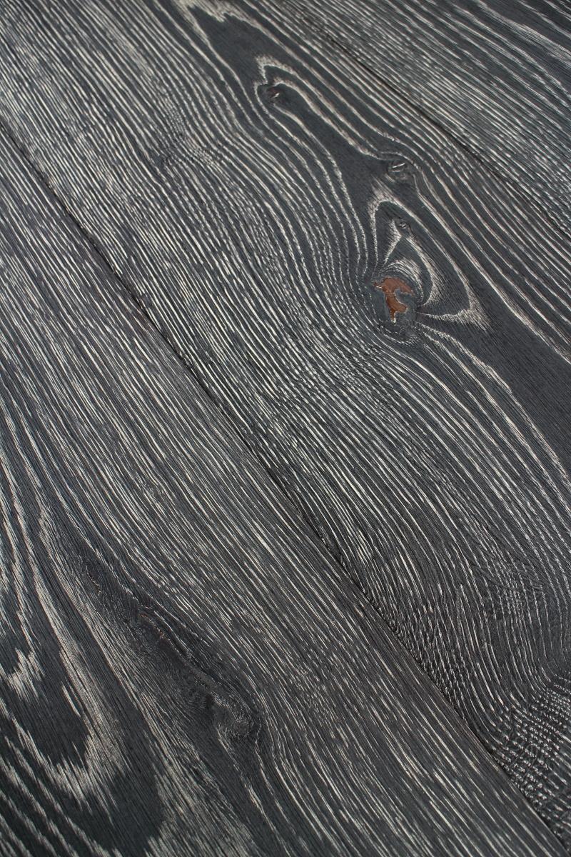 Weathered Rustic Oiled Oak Black Engineered Flooring