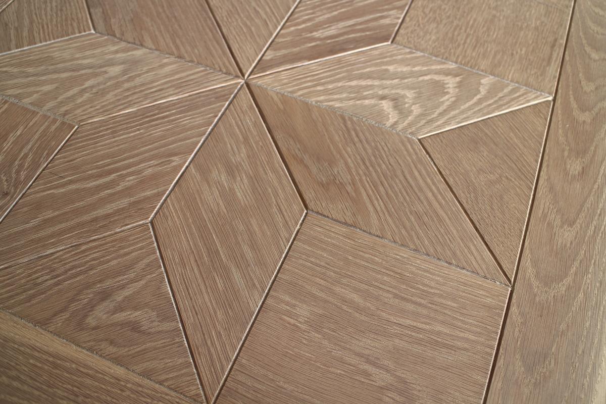 Star Pattern Engineered Modern Parquet Oak Flooring