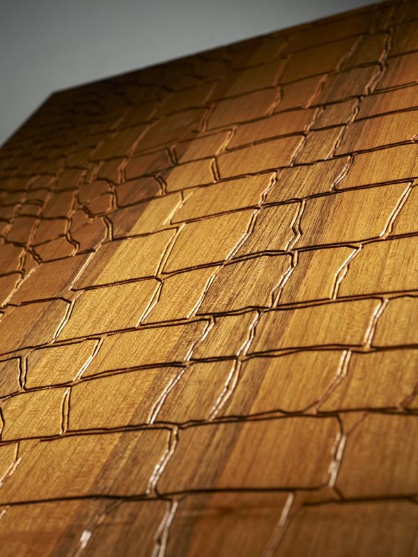 Brown Crocodile Textured Engineered Oak Flooring