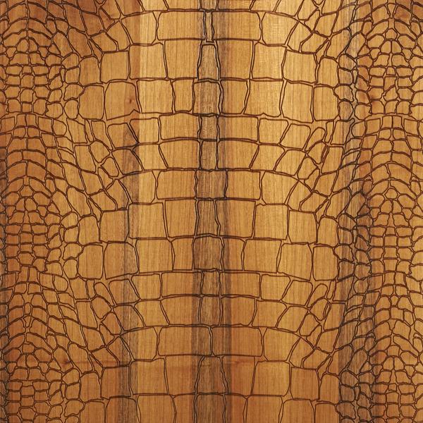 Crocodile Textured Brown Engineered Oak Flooring