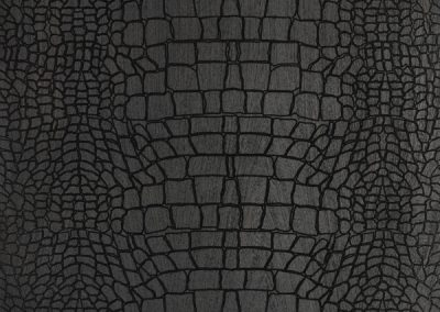 Black, Crocodile Textured Engineered Oak