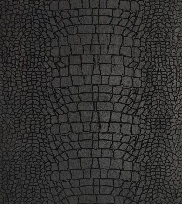 Black, Crocodile Textured Engineered Oak