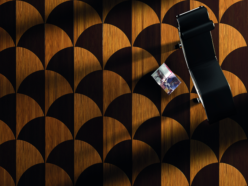 Exotic African Wood Curved Parquet Wenge Flooring
