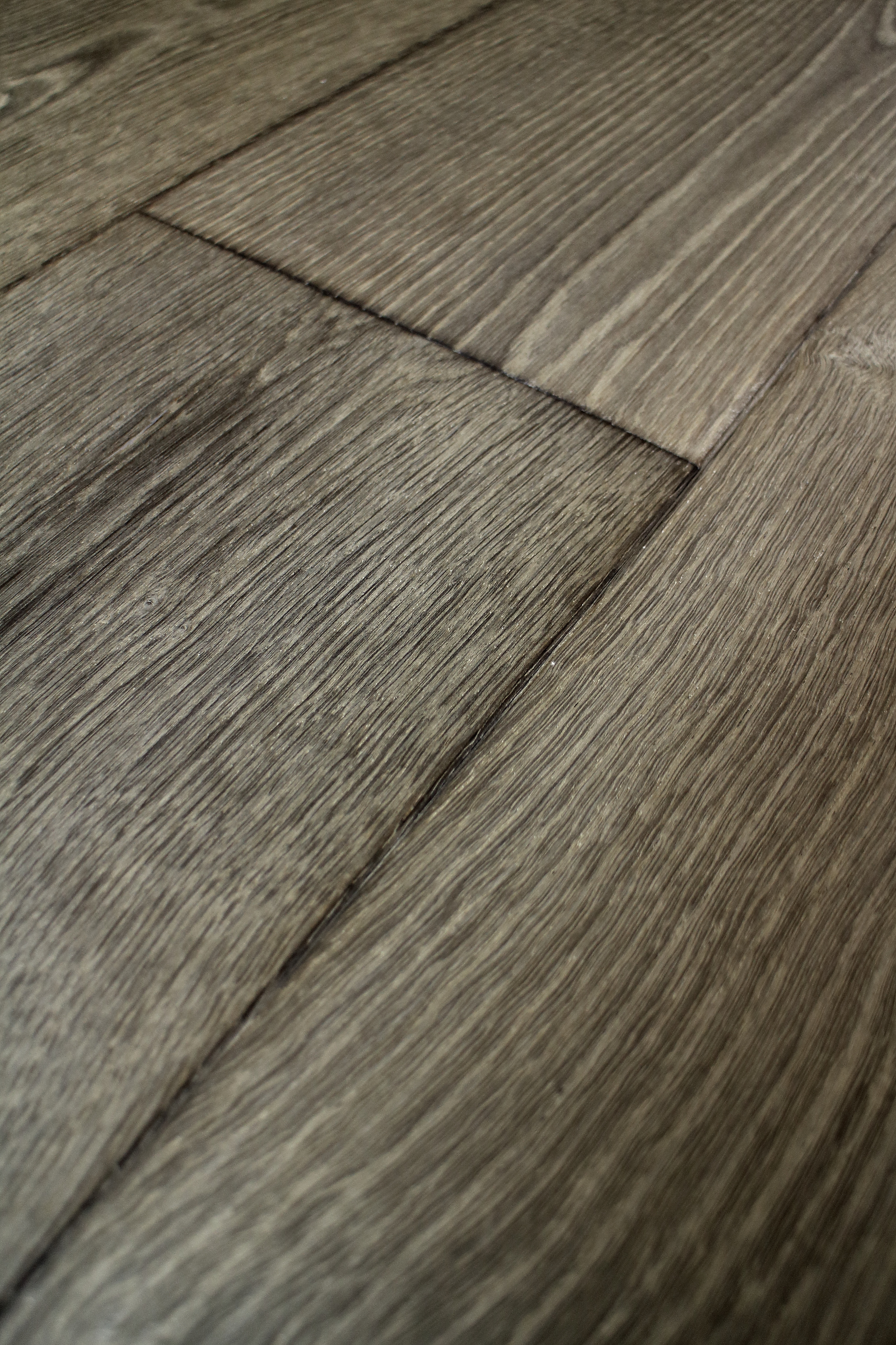 Grey Textured Brushed Distressed Oiled Wooden Flooring