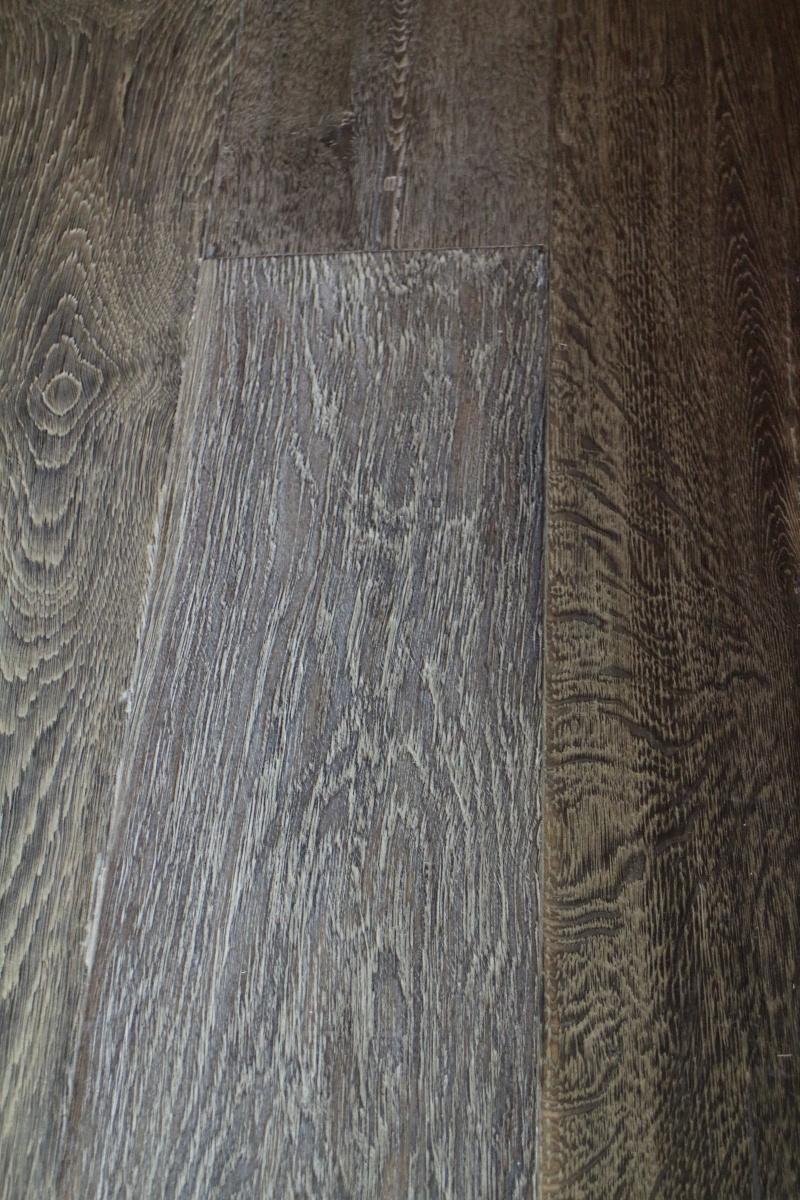 Dark Brushed Engineered Oiled Oak Wooden Floor