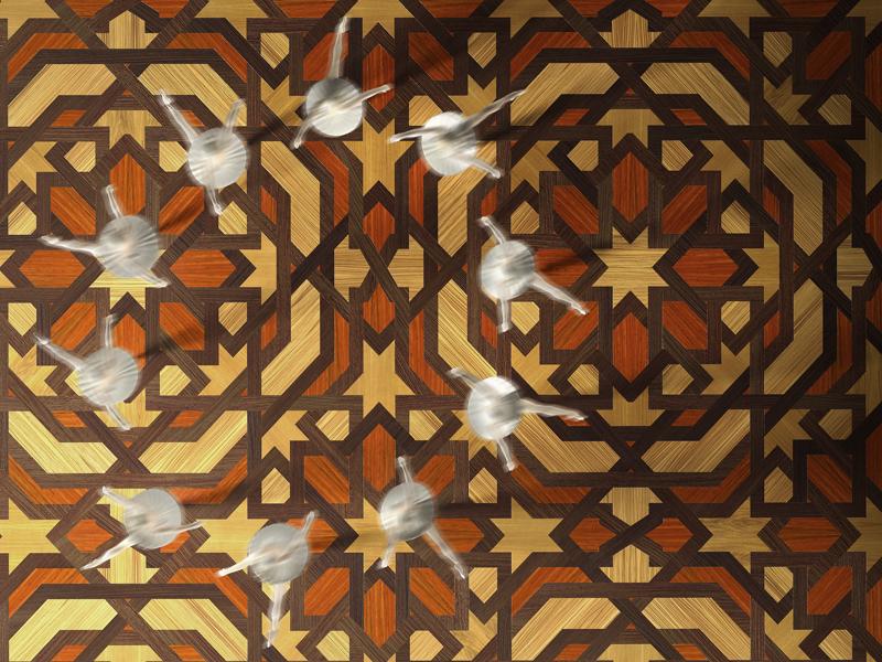 Modern Italian Bespoke Mosaic Geometric Parquet Wood Flooring