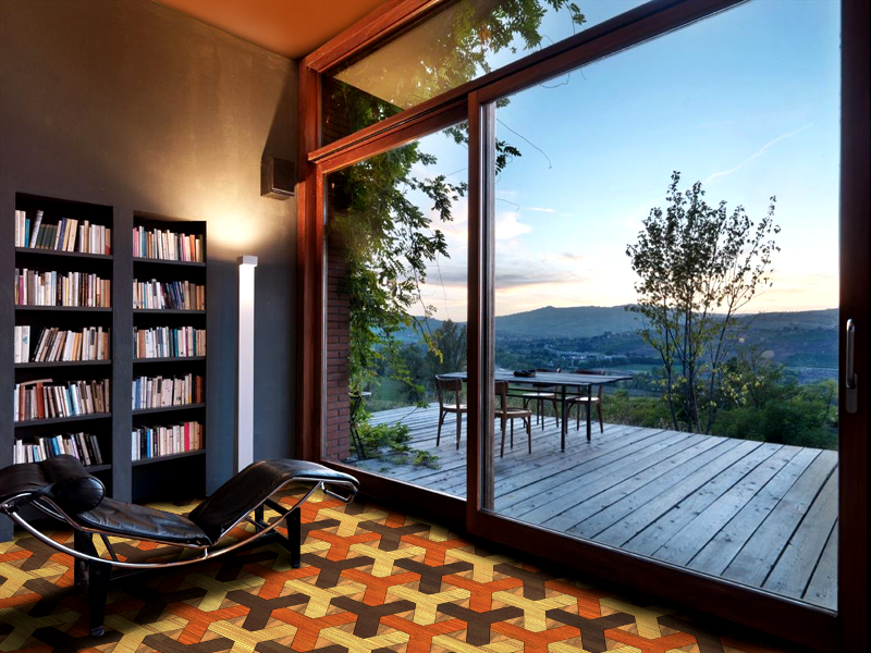 Unique Patterned Bespoke Geometric Wood Floor