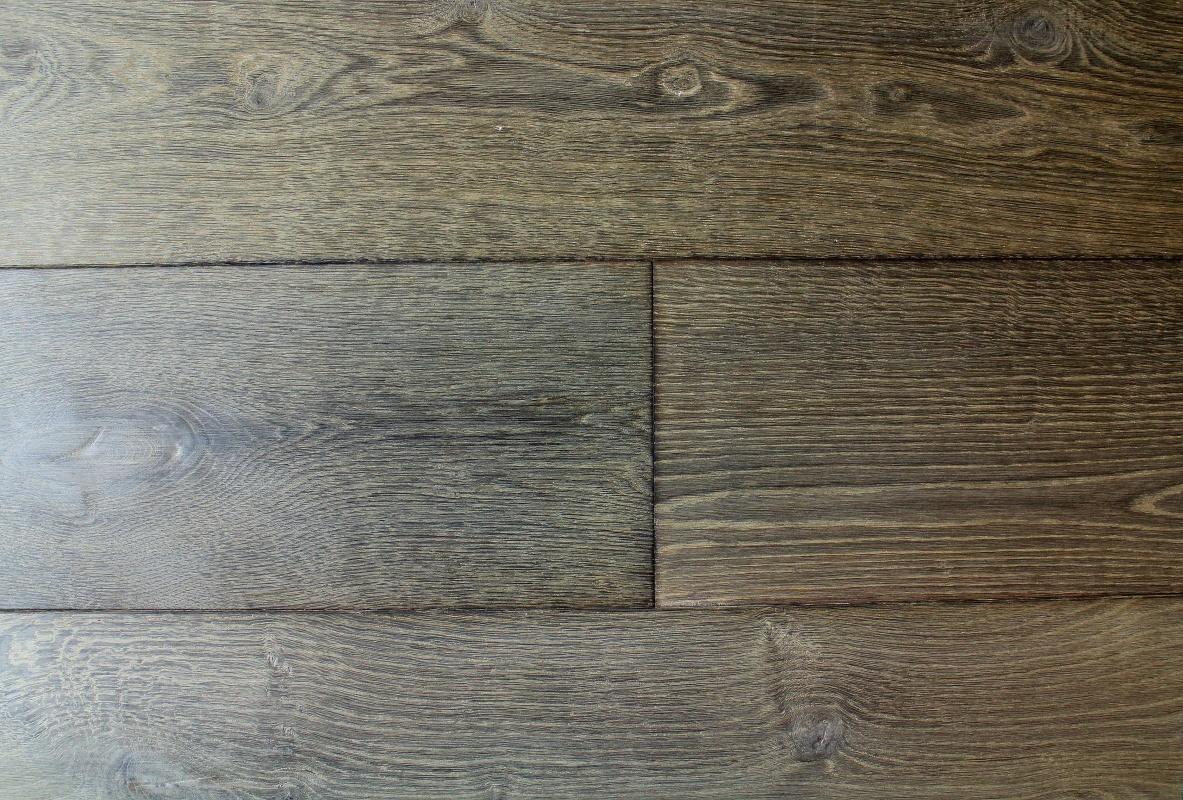 Brushed Grey Oiled Textured Oak Flooring