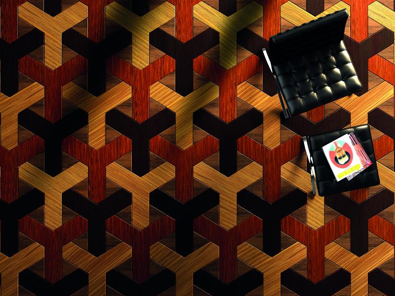 Bespoke, Exotic Wood Geometric Parquet