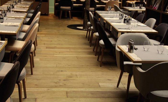 Amber Distressed Dented Solid Oak Wooden Floor