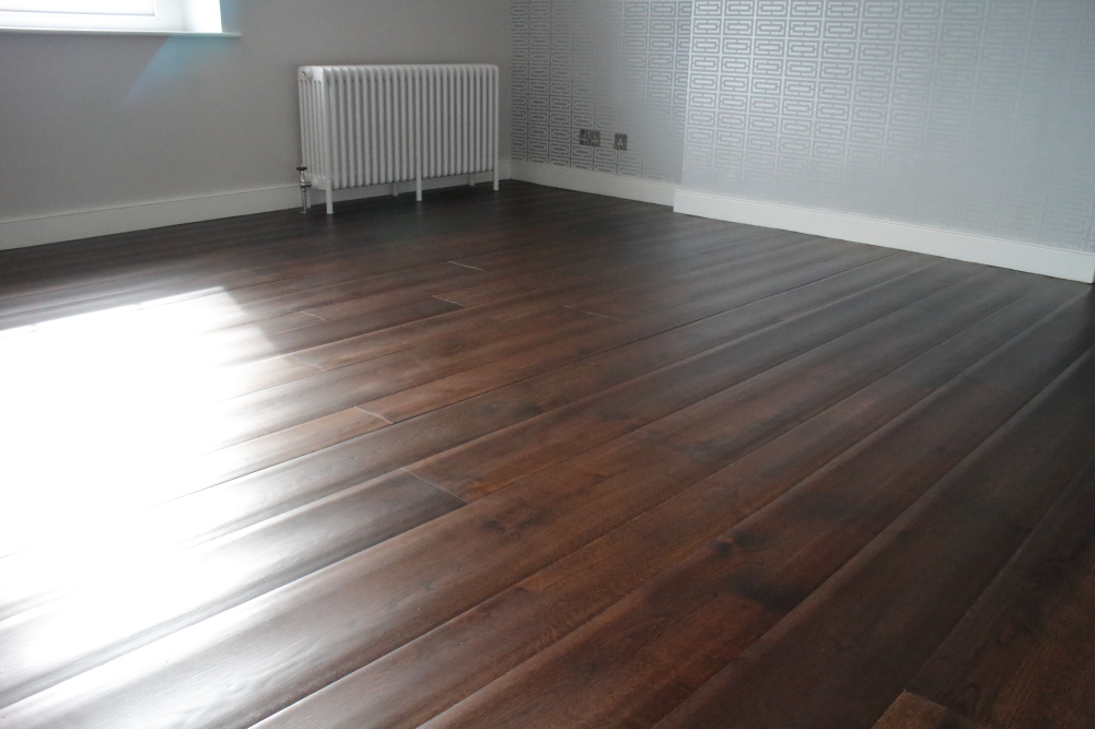 Rippled Jacobean Oak flooring from Hicraft Flooring. Product Code HC7207.
