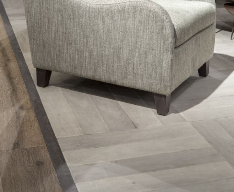 Weathered and Worn White Distressed Oak Floor
