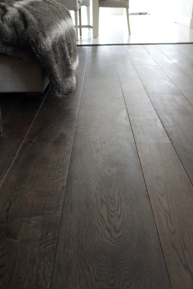 Dark charcoal oak flooring - available in many widths and up to 3m lengths plus 8 colour variations. Product Code HC1407 Hicraft Flooring