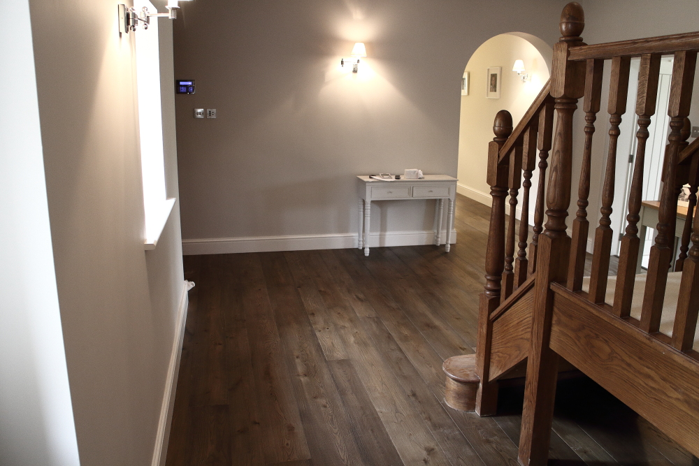 Distressed flooring colour varied