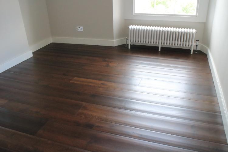 Rippled Variable Width Distressed  Jacobean Oak Flooring