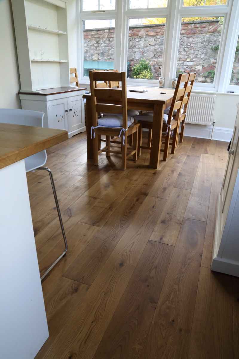 Beautiful warm lightly smoked oak flooring from Hicraft Flooring, product code HC2904