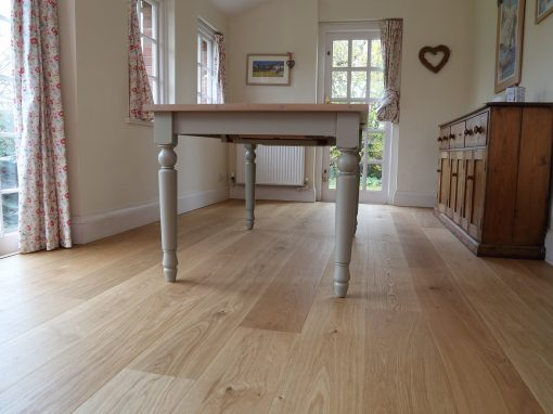 Lancaster, smooth oiled oak flooring