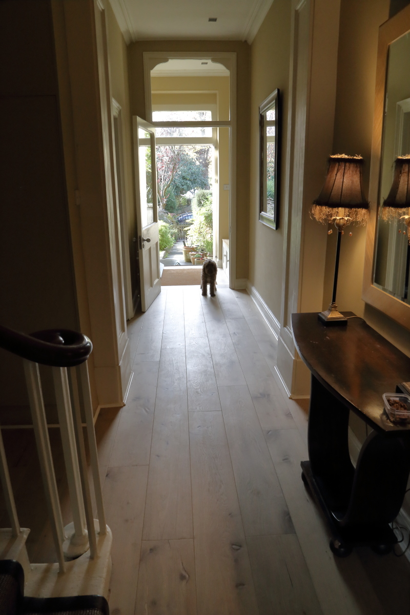 Lightly Distressed Oak Flooring, hand finished floor. Product code HC1328 at HicraftFlooring.co.uk
