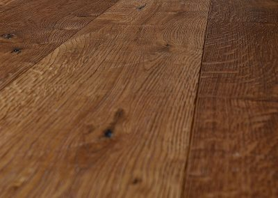 Heavily Distressed Rich Brown Oak Flooring