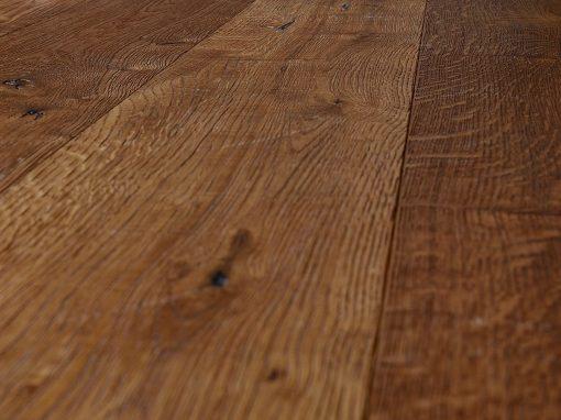 Heavily Distressed Rich Brown Oak Flooring