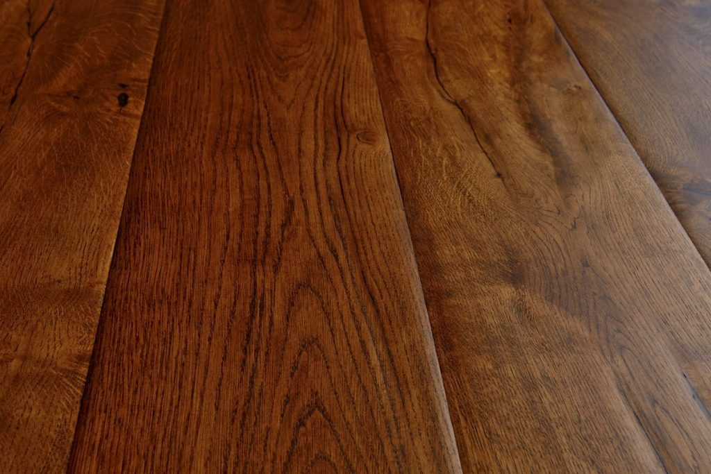 Medieval distressed oak flooring